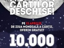 La Noaptea  Cărților Deschise se vor oferi 10.000 de cărți gratuite