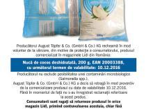 Nuca de Cocos produs suspectat de contaminare cu salmonella – Lidl