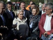 Premierul Viorica Dăncilă, la Bacău: Monitorizăm cu atenție execuția lucrărilor de refacere a obiectivelor afectate de inundații