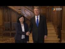 Comisarul european Vera Jourova s-a întâlnit cu preşedintele Klaus Iohannis