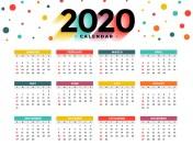 Calendarul zilelor libere 2020