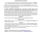 """Comunicat de presă privind implementarea proiectului """"AS – Antreprenoriat Social pentru comunitate & inovare sociala"""", ID 128454"""