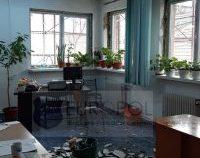 A căzut tavanul unui birou al Poliţiei de proximitate din cadrul Inspectoratului de Poliţie Judeţean Botoşani