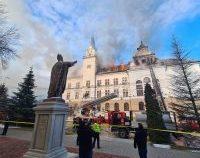 Incendiu la Prefectura din Suceava   AUDIO