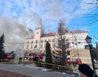 Incendiul de la Prefectura Suceava a fost stins   AUDIO