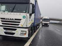 Coloane de camioane la punctele de trecere a frontierei cu Ungaria, după restricțiile aplicate de Paștele catolic