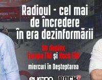Duplex Europa FM – Rock FM. Miercuri dimineața s-au unit on-air Deșteptarea și Morning Glory cu Răzvan Exarhu | VIDEO