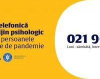 Ministerul Sănătății a lansat o linie telefonică de consiliere psihologică pentru persoanele afectate de pandemie | AUDIO