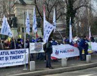 Protest sindical, marți, în fața sediului Ministerului Tineretului și Sportului