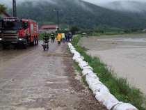 Vrancea: Drum județean închis din cauza inundațiilor