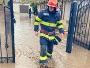 DSU: Inundaţii în 7 judeţe şi în Bucureşti