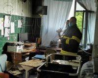 Imagini din Spitalul Sfânta Maria din Iași unde a avut loc incendiul