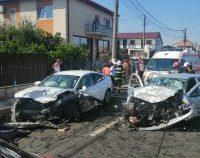 Trafic întrerupt pe DN39, în localitatea 23 August, din cauza unui accident. Sunt 7 răniți