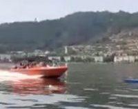 Orşova: Patru sportivi care se aflau într-un caiac pe Dunăre, loviţi în plin de o şalupă