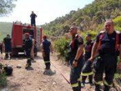 Pompierii români se luptă cu flăcările violente din regiunea Attica, din Grecia