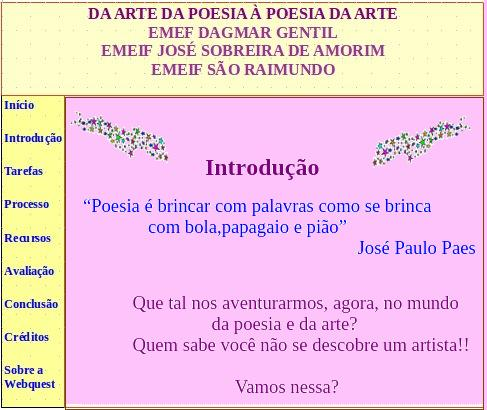Arte e Poesia - Webquest (2/6)