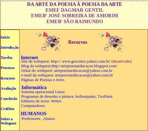 Arte e Poesia - Webquest (6/6)