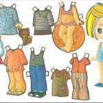 Molde bonecos de papel para vestir, ótimos para painel do tempo