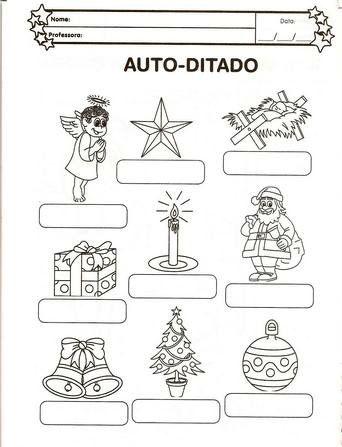 Atividades de Natal auto ditado