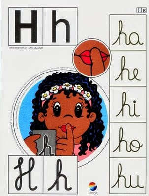 Alfabeto colorido h