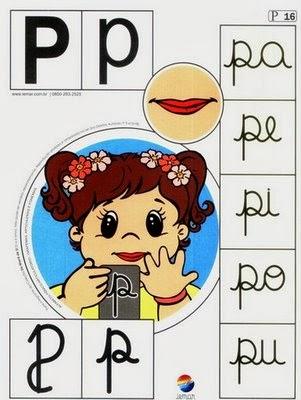 Alfabeto colorido p