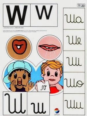 Alfabeto colorido w