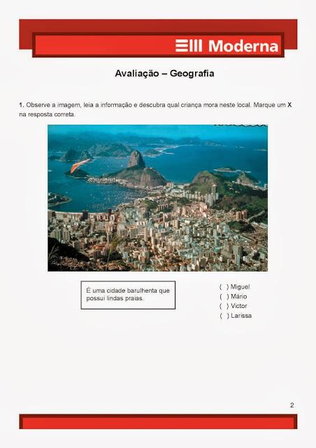 Avaliação prova de Geografia1