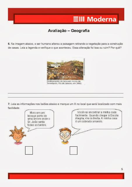 Avaliação prova de Geografia4