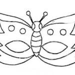 Máscara de Carnaval pronta para imprimir