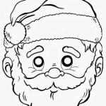 Máscara de Papai Noel e Mamãe Noel