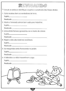 Sujeito Predicado Atividades Ling Portuguesa Imprimir  (6)