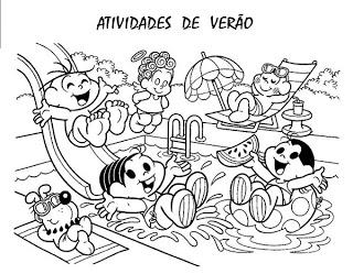 Verão Desenhos Atividades praia férias brincadeiras colorir Imprimir (48)