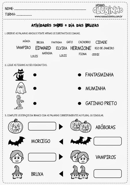atividades halloween ensino fundamental 6
