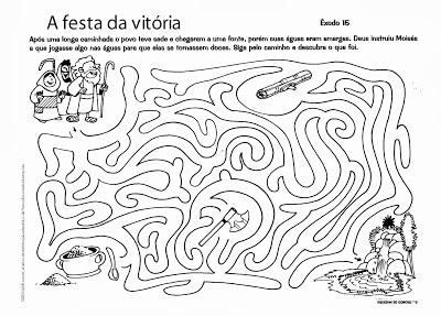 atividades labirinto a festa