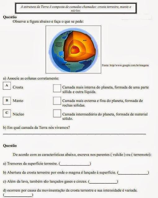 Atividade de geografia 4° ano