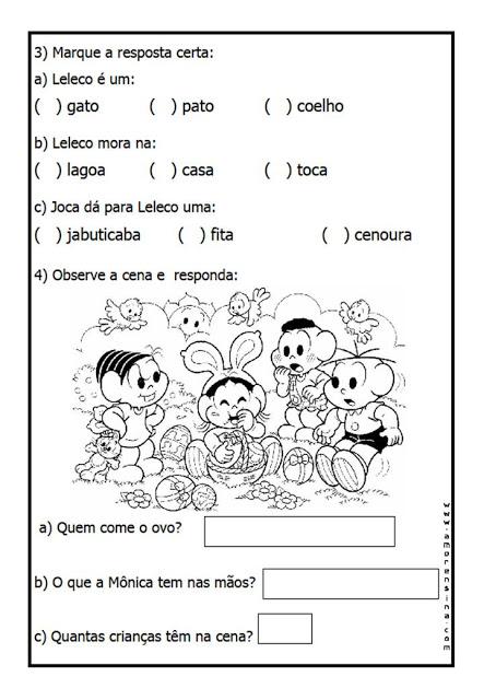 Texto para interpretação 1° ano do ensino fundamental