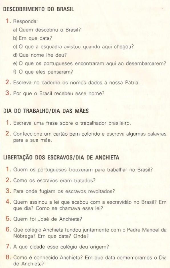 Descobrimento do Brasil - Exercícios