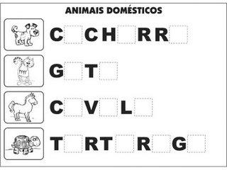 Atividades Alfabetização - Complete as Palavras