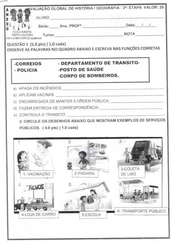 AVALIAÇÃO SOBRE SERVIÇOS PÚBLICOS DO MUNICÍPIO