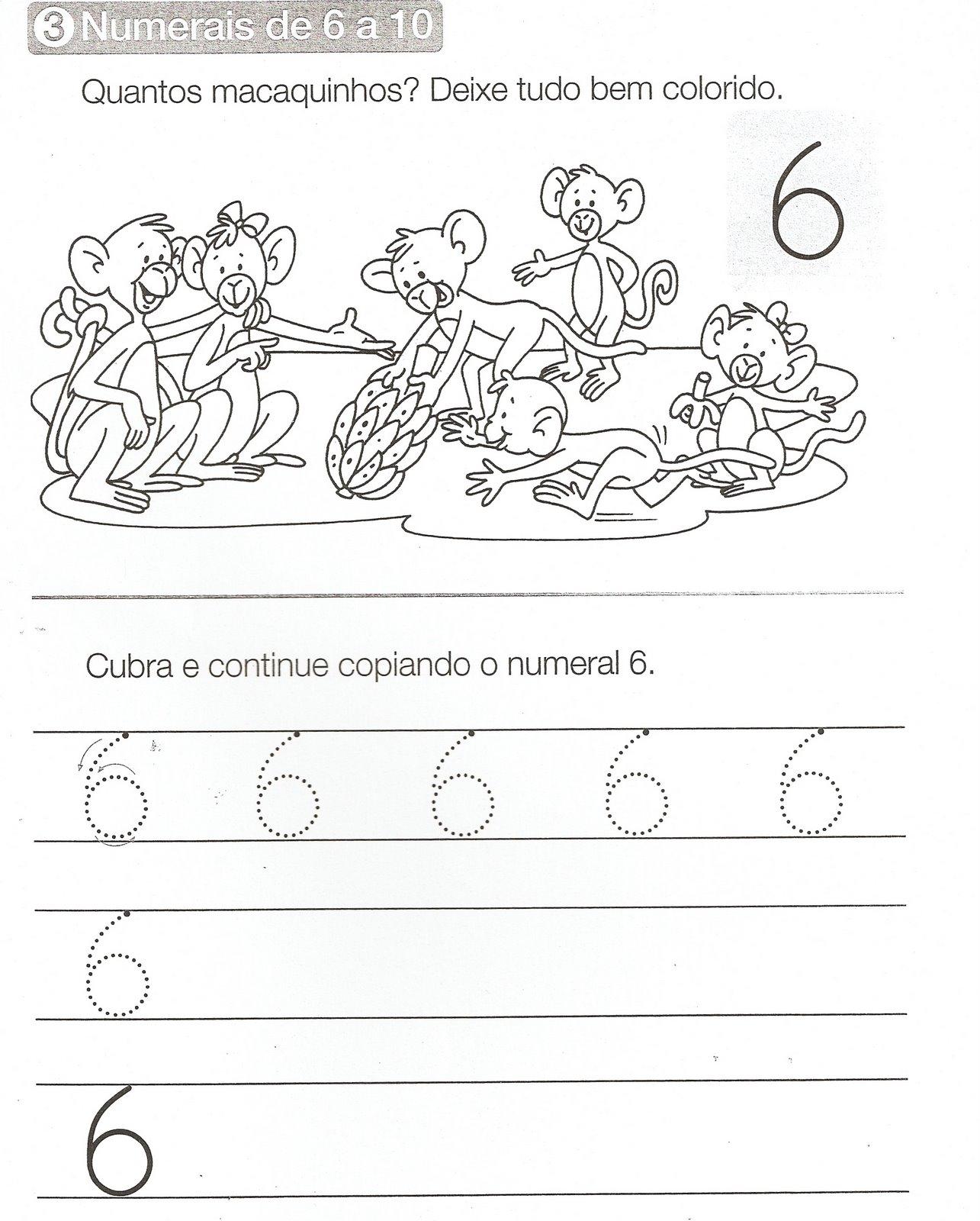 Atividades Com Numero 6 Para Educacao Infantil