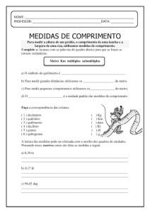ATIVIDADES COM MEDIDAS DE COMPRIMENTO