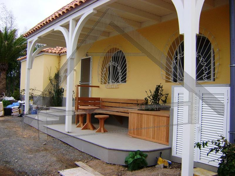 Terrasse, Pergola und Gartenmöbel , Geländer -AtiWood
