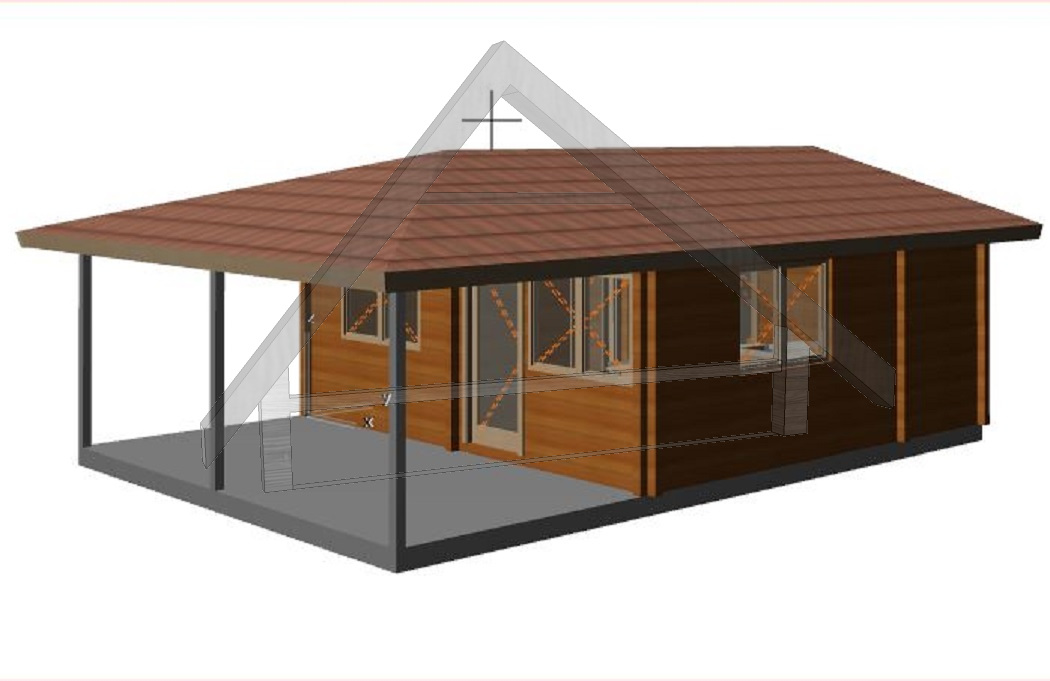 Wooden cabins porch - AtiWood