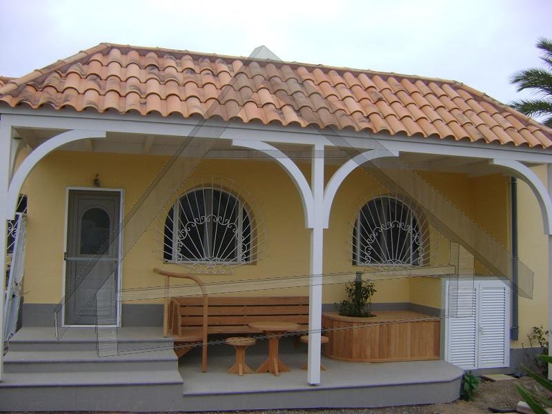 Terraza ,pergola y muebles de jardin ,barandilla - AtiWood