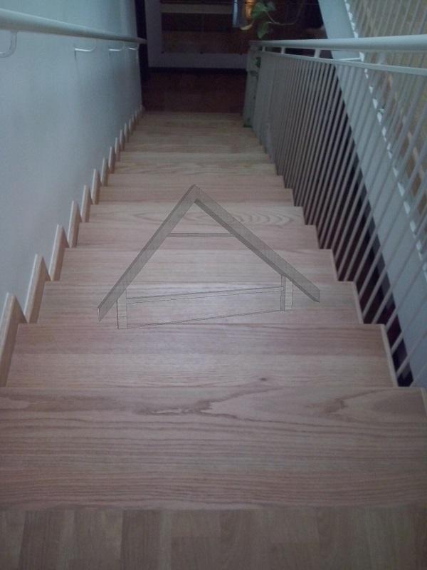 Escadaria de carvalho branco canada - AtiWood