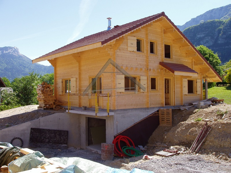 garaje subterráneo casa de madera - AtiWood