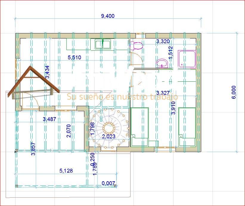 Casa de madera prefabricada 123m2 planta alta muro ligera for Casa de planta baja