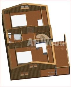 casa prefabricada interior - AtiWood