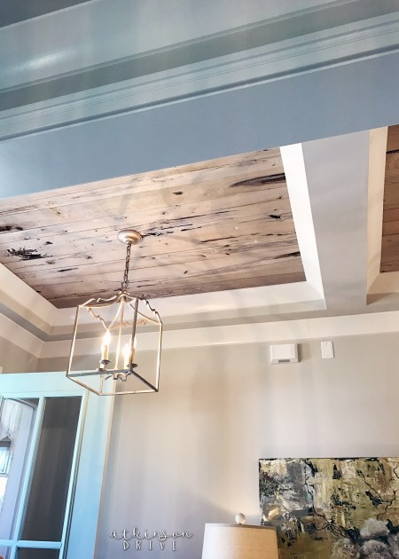 Reclaimed Wood Ceiling Detail /// Woodridge Parade of Homes Tour by Atkinson Drive