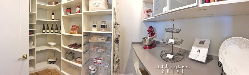 Organized pantry with tons of storage and counter space /// Woodridge Home Tour by Atkinson Drive